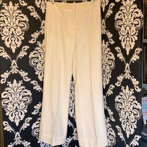 NWT White House Black Market Cream Pants Size 8